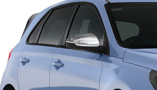 Chrome mirror covers (set of 2).